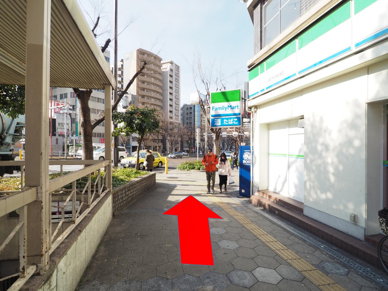 谷町九丁目駅 2番出口から千日前方面へ ③